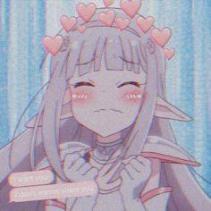Manga Kawaii, Kawaii Anime Girl, Anime Art Girl, Manga Anime, Cute Anime Pics, Anime Love, Gothic Anime, Anime Expressions, Cartoon Profile Pictures