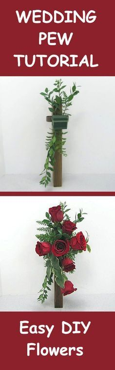 Wedding Pew Decorations - Easy Free Flower Tutorials Learn how to make bridal bouquets, wedding corsages, groom boutonnieres, church decorations and reception table centerpieces. Buy wholesale flowers and discount florist supplies.