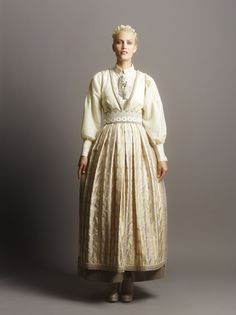 Fantasistakk Folk Costume, Costumes, Fashion Terms, Scandinavian Fashion, Folk Fashion, Cute Dresses, Feminine, My Style, Norway
