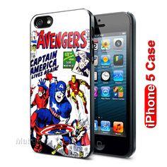 Avengers Captain America Custom iPhone 5 Case Cover