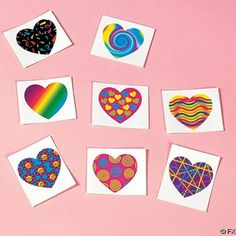 "http://stansmarketing.com/funky-heart-tattoos/ These Funky Heart Tattoos are hard not to love! They come in a variety of fun and colorful designs. They are easy to apply and remove and non-toxic. Each heart is about 1.5"" and you'll receive 72 tattoos per order. Have a fun and funky party!"