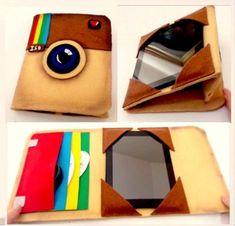 DIY funda protectora para tablet o ipad como el logo de instagram, manualidades faciles