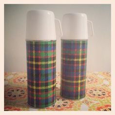 Retro Vintage 'Vacco'Tartan Thermos circa by CurlyTink Tartan, Plaid, Scottish Islands, Camping Accessories, Cool Stuff, Stuff To Buy, 1970s, Retro Vintage, Picnic
