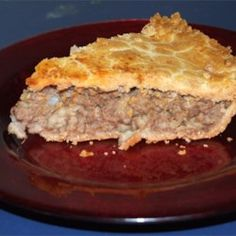 Meat pie (French Canadian Tourtiere) Not Portuguese, I know, but I was brought up on this as well, on my Mom's side. My Pepere made the BEST meat pies in the world! French Meat Pie, French Food, French Pork Pie Recipe, French Canadian Meat Pie Recipe, French Dishes, Loaf Recipes, Cooking Recipes, Kitchen Recipes, Canadian Food