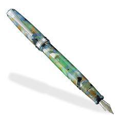 True Writer Sea Glass Fountain Pen - Fine Fountain Pen - Levenger