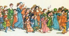 Kate Greenaway illustrates Robert Browning's poem.