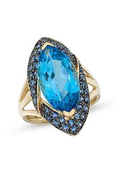 14K Blue Topaz Ring | Emma Stine Coupons, Reviews and Savings
