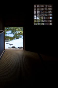Nijiri-guchi entrance: Nijiri-guchi is a tiny guest-entrance, comprised of a square, sliding wooden door to the Japanese tearoom.
