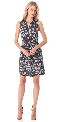 Rebecca Taylor Floral Sleeveless Dress