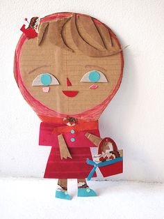 .Child's collage of a girl