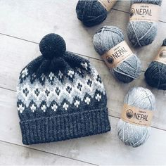 Knitting yarn colors crafts 28 ideas for 2019 Fair Isle Knitting Patterns, Knitting Stitches, Knitting Yarn, Baby Knitting, Crochet Patterns, Knitting Projects, Crochet Projects, Knit Crochet, Crochet Hats