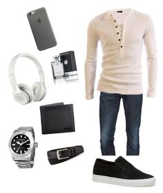 """""""great guy outfit"""" by ndommers on Polyvore featuring Dsquared2, Lacoste, Akribos XXIV, Gucci, Beats by Dr. Dre, Neiman Marcus, Bulgari, Native Union, men's fashion and menswear"""