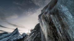 Stetind - IS: Arktisk landskap med Norges nasjonalfjell Stetind i bakgrunnen.Lofoten Tours