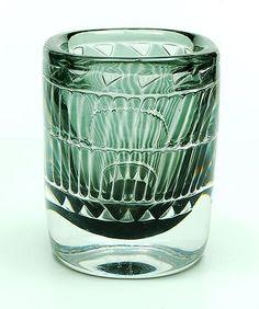 Heavy glass Ariel vase design Ingeborg Lundin 1961 executed by Orrefors / Sweden