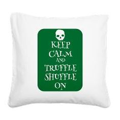 Keep Calm and Truffle Shuffle On Goonies Style Square Canvas Pillow. A keep calm style design for all the fans of classic movies. Now carry on.