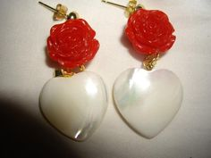 Jewellery from our heart Pearl Earrings, Spring Summer, Jewels, Heart, Gold, Pearl Studs, Jewerly, Bead Earrings, Gemstones