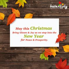 Katen ply wishes you and your family members!! May this Christmas bring gleam & joy as we step into the new year for peace & prosperity.