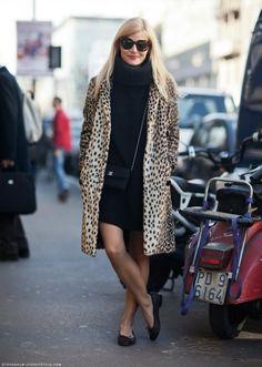 Leopard and black dress