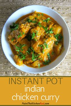 This Indian Instant Pot chicken curry is flavorful and creamy and is sure to please any Indian Curry lover.
