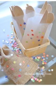 confetti flatware holder from think garnish