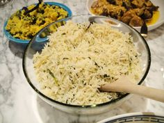 Sri Lankan Rice with Cilantro and Lemongrass by Madhur Jaffrey....Delicious!!!