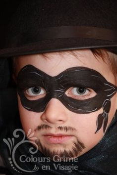 zorro Face Painting Designs, Body Painting, Boys Face Painting, Paint Designs, Painting For Kids, Painting Tips, Kids Makeup, Boy Face, Halloween Kids