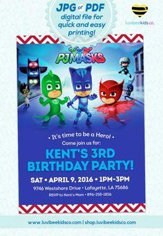 #PJMasks Birthday Invitation - Printable Invitation