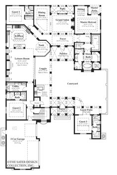 Floorplan i would make a few changes dont want a breakfast area tre mori courtyard home plans home plan styles sater design collection plans malvernweather Image collections
