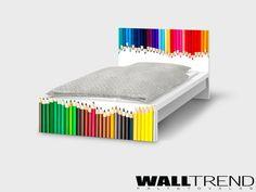IMA90 010 Színes ceruzás bútorfólia - WALLtrend - faltetoválás, falmatrica, faldekoráció