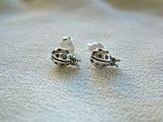 Sterling silver Ladybird stud earrings - ¡Q chulo!
