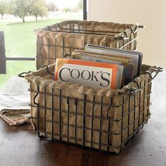 great idea for burlap..I have a basket this will be great in.