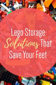 Lego Storage Solutions That Save Your Feet - Mommy Thrives - - As a parent I've stepped on Legos more than I care to count. That's why I started looking up different storage system ideas to get Legos off the floor. Lego Table With Storage, Lego Storage Brick, Building Toys For Kids, Lego For Kids, Lego Building, Toy Storage Bags, Kids Storage, Old Lego Sets, Learning Toys For Toddlers