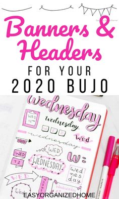 These super simple banners and headers will make your bullet journal look fantastic! Get the step by step tutorials here. #bulletjournal #banner #headers #bulletjournaldoodles #doodles #bujo #planneraddict
