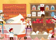 chokomakaさんの提案 - 誕生日や記念日用ケーキ箱のかわいいパッケージイラスト | クラウドソーシング「ランサーズ」