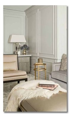 Great inspiration photos for adding architectural interest to your walls, especially if you want to paint a room white. #architecture #whitewalls #moulding