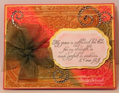 Crafters of Faith- forgiveness.  Made with TJ Embossed Stains