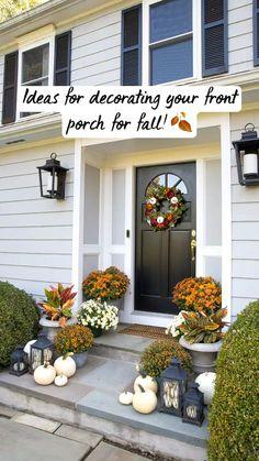 Fall Home Decor, Autumn Home, Fall Entryway Decor, Fall Fireplace Decor, Porch Decorating, Decorating Ideas, Summer Decorating, Decor Ideas, Outdoor Decor