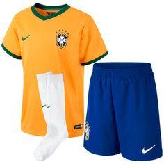 Nike Brazil Preschool Soccer Home Performance Kit - Yellow