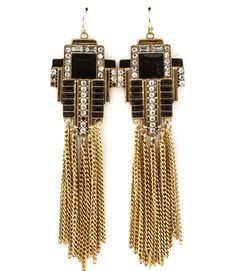 FRINGE ART DECO EARRING SET