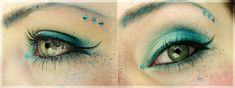 Sailor Neptun inspired make up by http://freakywonderland.blogspot.co.at/2013/03/make-up-dreamz-sailor-neptun.html