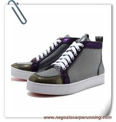 low priced ffd48 a442b scarpe da calcetto Louis Glitter Nero Men Christian Louboutin Uomo Cheap  Sneakers Online, Discount Sneakers