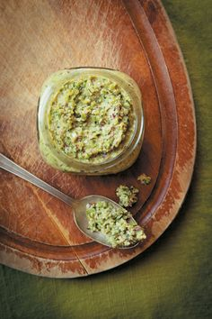 You will never look at kale stems the same after you try this vegan Kale Stem Pesto from The CSA Cookbook