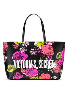 Bombshell Wild Flower Everything Tote - Victoria's Secret - beauty Handbags On Sale, Tote Handbags, Tote Bags, Mochila Nike, Pocket Dog, Quilted Shoulder Bags, Bombshells, Fashion Bags, Victoria Secret Pink
