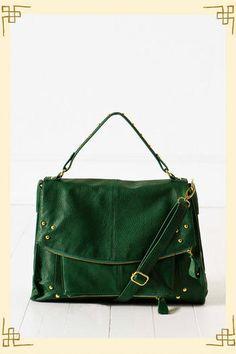 Hunter green handbag; love it!