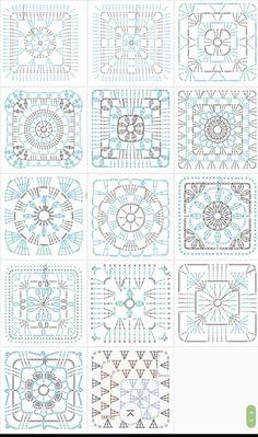 grannysquare,GrannyThrow-Transcendent Crochet a Solid Granny Square Ideas. Inconceivable Crochet a Solid Granny Square Ideas. Granny Square Crochet Pattern, Crochet Blocks, Crochet Diagram, Crochet Chart, Crochet Squares, Crochet Blanket Patterns, Love Crochet, Crochet Motif, Crochet Afghans