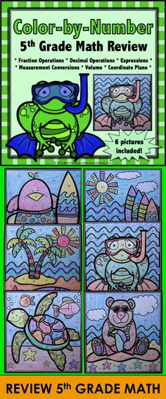 Super Math – 3rd Grade – Color by Code EDITABLE – Common Core ...