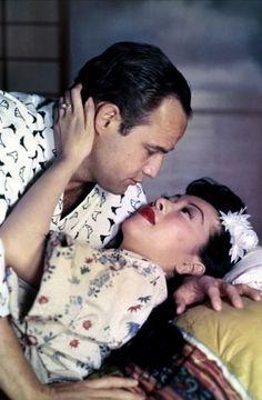 Marlon Brando with Miiko Taka