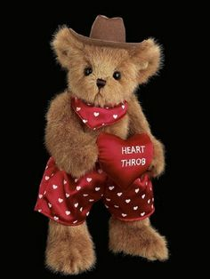 Bearington Valentines Teddy Bear Stud Lee