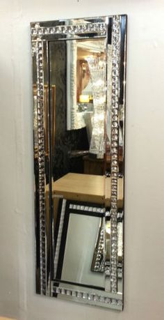 One of these on either side of my bed would look awesome. Full-Length-ArtDeco-Acrylic-Crystal-Glass-Design-Bevelled-Mirror-120x40cm