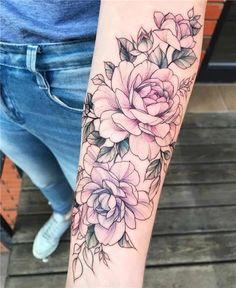 Rosa und lila Pfingstrosen von Olga Koroleva Pink and purple peonies by Olga Best Sleeve Tattoos, Sleeve Tattoos For Women, Body Art Tattoos, Purple Tattoos, Tatoos, Pink Tattoo Ink, Henna Tattoos, Skull Tattoos, Beautiful Tattoos For Women